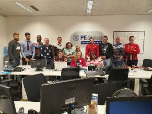 Christmas Jumper Day in UK office